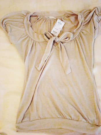 Charlotte Russe Bow Top (Size S)