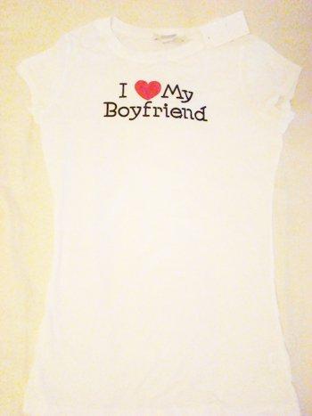 "Charlotte Russe ""I Love My Boyfriend"" Graphic Tee (Size S)"