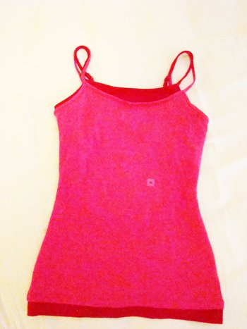 Express Layered Red-Pink Tank (Size XS)