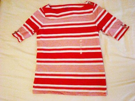 Liz Claiborne Striped Shoulder Top (Size XS)