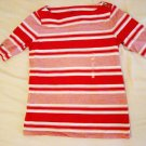 Liz Claiborne Striped Shoulder Top (Size XS)