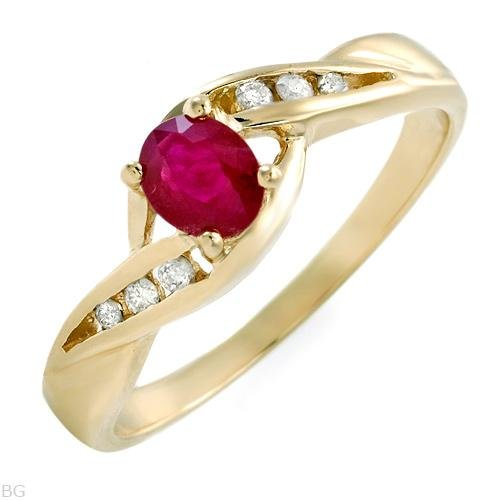 67% OFF - Diamond & Ruby 14K Gold Engagement Ring