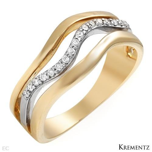 65% OFF - Designer KREMENTZ Diamond two tone gold Engagement ring