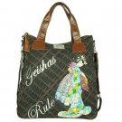 ED HARDY 100% Original Ellen Travel Tote - Taupe