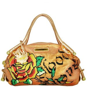 ED HARDY 100% Original Tyla Large Tote - Copper