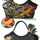 ED HARDY 100% Original Tribecca Large Tote - Black