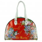 ED HARDY 100% Original Beautiful World Large Bowling Bag - Red