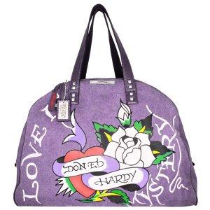 ED HARDY 100% Original Jane Weekend Bag - Plum