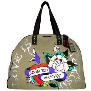 ED HARDY 100% Original Jane Weekend Bag - Khaki