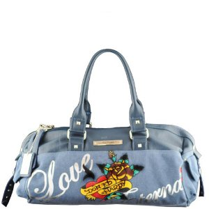 ED HARDY 100% Original Sandy Hip Satchel - Teal