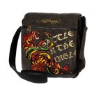ED HARDY 100% Original Cardell Mail Bag - Black