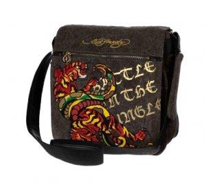 ED HARDY 100% Original Cardell Mail Bag - Black