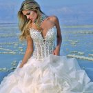 2010 White Wedding Dress Gown Size all Custome-made DS020