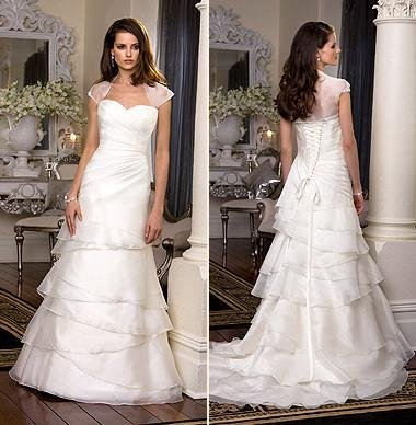 White/Ivory Wedding Dress Bridal Gown Custom Size/Top DS028