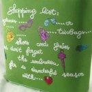 Green Glitter Bucket