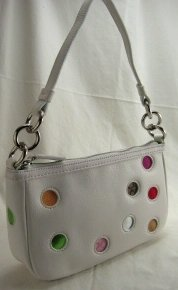 White Polka Dot Gallery Pouch