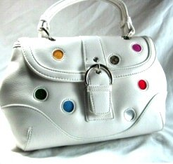 White Polka Dot Handbag