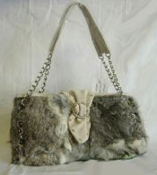 Wholesale Lot of 10 Rabbit Fur Handbags 6 styles 3 colors