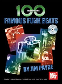 100 Famous Funk Beats Book/CD Set by Jim Payne drum set