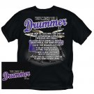 You Might Be A Drummer T-shirt NEW BLACK