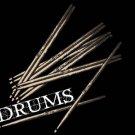 Drums Sticks T-SHIRT BLACK