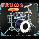 DRUM SET MOUSE PAD