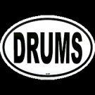 Drums Oval Sticker