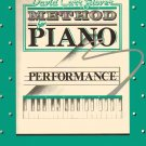 METHOD FOR PIANO PERFORMANCE David Carr Glover book