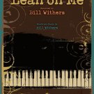 LEAN ON ME BILL WITHERS easy piano sheet music