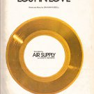 Lost In Love AIR SUPPLY piano vocal guitar sheet music free shipping