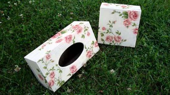 Tissue & tea boxes