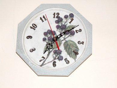 Wildberry wall clock
