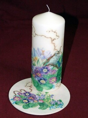 Candle with stand
