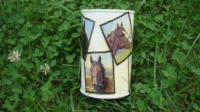 Can with horses