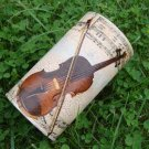 Can with violin