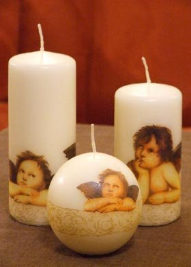 Candles with angels