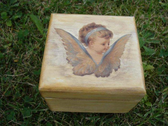 Jewelry box with angel
