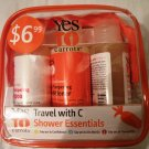Yes to Carrots Travel with C Essentials Kit (3pieces+bag)