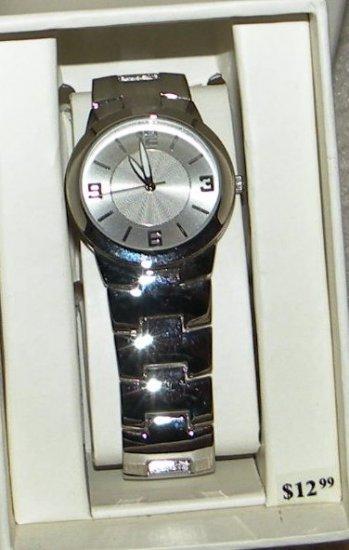Womens Merona Silver Tone Watch,  Link Band
