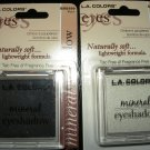 L.A. Colors Mineral Eyeshadow: Black & White (2 pcs)