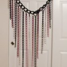 Pink, Silver, Black Chain Necklace Punk/Scene style