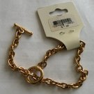 7.5 inches Gold tone Chain Link Toggle Bracelet
