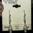 Pearl Bead Dangle Earrings, 1 inch