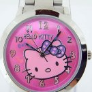 Hello Kitty Metal Link Watch, Rose & Purple Face