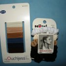 Hair Set: Goody Ouchless & Scunci Knit Bands (mini/thin scruncies)