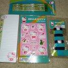 HELLO KITTY Garden Stickers, NotePad, Pencils, Hair Tie