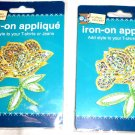 Iron-On Patch: Yellow Flower with Holographic Glitter