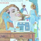 Singer Model 756 Touch And Sew Zig Zag Sewing MANUAL ON CD