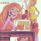 Singer Model 750 Touch And Sew Zig Zag Sewing MANUAL ON CD