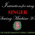 Singer Model 301 - Sewing Machine MANUAL ON CD